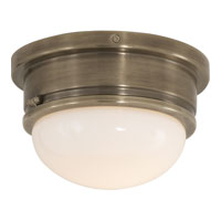 Visual Comfort E.F. Chapman Marine 1 Light Flush Mount in Antique Nickel SL4001AN-WG