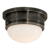 Visual Comfort E.F. Chapman Marine 1 Light Flush Mount in Bronze with Wax SL4001BZ-WG
