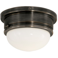 Visual Comfort SL4001BZ-WG E. F. Chapman Marine 1 Light 8 inch Bronze Flush Mount Ceiling Light