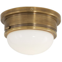 E. F. Chapman Marine 1 Light 8 inch Hand-Rubbed Antique Brass Flush Mount Ceiling Light