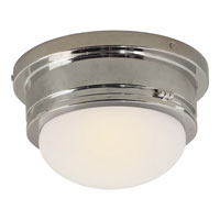 Visual Comfort E.F. Chapman Marine 1 Light Flush Mount in Polished Nickel SL4001PN-WG