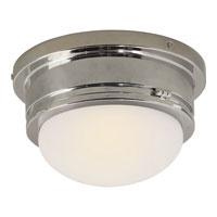 Visual Comfort SL4001PN-WG E. F. Chapman Marine 1 Light 8 inch Polished Nickel Flush Mount Ceiling Light