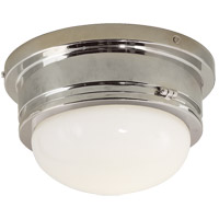Visual Comfort SL4001PN-WG E. F. Chapman Marine 1 Light 8 inch Polished Nickel Flush Mount Ceiling Light