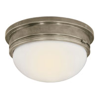 Visual Comfort E.F. Chapman Marine 2 Light Flush Mount in Antique Nickel SL4002AN-WG