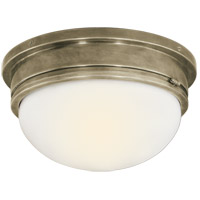 Visual Comfort SL4002AN-WG E. F. Chapman Marine 2 Light 13 inch Antique Nickel Flush Mount Ceiling Light
