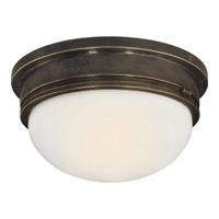 Visual Comfort SL4002BZ-WG E. F. Chapman Marine 2 Light 13 inch Bronze Flush Mount Ceiling Light