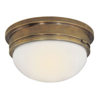 E.F. Chapman Marine 2 Light 13 inch Hand-Rubbed Antique Brass Flush Mount Ceiling Light