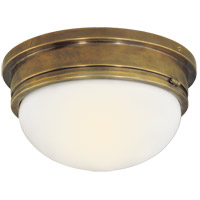 Visual Comfort SL4002HAB-WG E. F. Chapman Marine 2 Light 13 inch Hand-Rubbed Antique Brass Flush Mount Ceiling Light