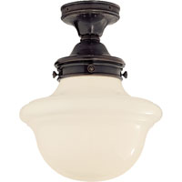 Visual Comfort SL4121BZ-WG E. F. Chapman Edmond 1 Light 15 inch Bronze Flush Mount Ceiling Light