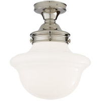 Visual Comfort SL4121PN-WG E. F. Chapman Edmond 1 Light 15 inch Polished Nickel Flush Mount Ceiling Light