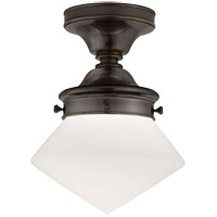 Visual Comfort SL4134BZ-WG E.F. Chapman Edmond 1 Light 11 inch Bronze Flush Mount Ceiling Light