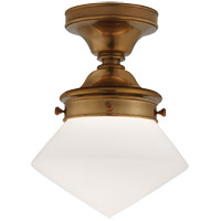 Visual Comfort SL4134HAB-WG E.F. Chapman Edmond 1 Light 11 inch Hand-Rubbed Antique Brass Flush Mount Ceiling Light