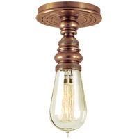 Visual Comfort E.F. Chapman Boston 1 Light Flush Mount in Hand-Rubbed Antique Brass SL5001HAB