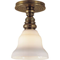 Visual Comfort SL5001HAB/SLEG-WG E. F. Chapman Boston 1 Light 6 inch Hand-Rubbed Antique Brass Flush Mount Ceiling Light