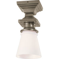 Visual Comfort E.F. Chapman New York Subway 1 Light Flush Mount in Antique Nickel SL5151AN-WG