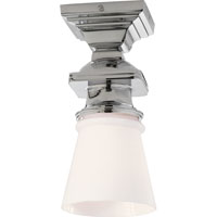 Visual Comfort E.F. Chapman New York Subway 1 Light Flush Mount in Chrome SL5151CH-WG