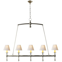 Visual Comfort SL5811AN-NP E. F. Chapman Classic 5 Light 45 inch Antique Nickel Linear Pendant Ceiling Light