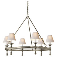 E.F. Chapman Classic 6 Light 33 inch Antique Nickel Chandelier Ceiling Light