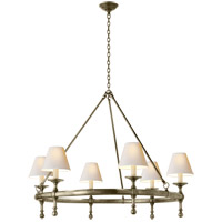 Visual Comfort SL5812AN-NP E. F. Chapman Classic 6 Light 33 inch Antique Nickel Chandelier Ceiling Light