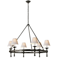 Visual Comfort SL5812BZ-NP E. F. Chapman Classic 6 Light 33 inch Bronze Chandelier Ceiling Light
