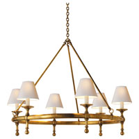 E. F. Chapman Classic 6 Light 33 inch Hand-Rubbed Antique Brass Chandelier Ceiling Light