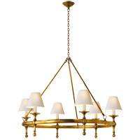 Visual Comfort SL5812HAB-NP E. F. Chapman Classic 6 Light 33 inch Hand-Rubbed Antique Brass Chandelier Ceiling Light photo thumbnail