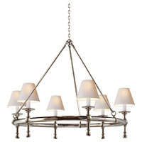 E.F. Chapman Classic 6 Light 33 inch Polished Nickel Chandelier Ceiling Light