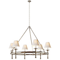 E. F. Chapman Classic 6 Light 33 inch Polished Nickel Chandelier Ceiling Light