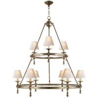 Visual Comfort SL5813AN-NP E. F. Chapman Classic 9 Light 45 inch Antique Nickel Chandelier Ceiling Light