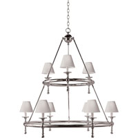 Visual Comfort E.F. Chapman Classic 9 Light Chandelier in Bronze with Wax SL5813BZ-NP