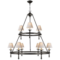 Visual Comfort SL5813BZ-NP E. F. Chapman Classic 9 Light 45 inch Bronze Chandelier Ceiling Light