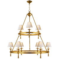 Visual Comfort SL5813HAB-NP E. F. Chapman Classic 9 Light 45 inch Hand-Rubbed Antique Brass Chandelier Ceiling Light