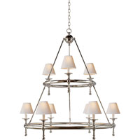 Visual Comfort E.F. Chapman Classic 9 Light Chandelier in Polished Nickel SL5813PN-NP