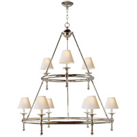 Visual Comfort SL5813PN-NP E. F. Chapman Classic 9 Light 45 inch Polished Nickel Chandelier Ceiling Light
