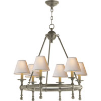 Visual Comfort E.F. Chapman Classic 6 Light Chandelier in Antique Nickel SL5814AN-NP