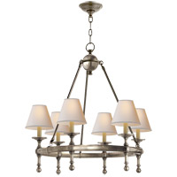 Visual Comfort SL5814AN-NP E. F. Chapman Classic 6 Light 26 inch Antique Nickel Chandelier Ceiling Light