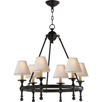 Visual Comfort E.F. Chapman Classic 6 Light Chandelier in Bronze with Wax SL5814BZ-NP