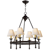 Visual Comfort SL5814BZ-NP E. F. Chapman Classic 6 Light 26 inch Bronze Chandelier Ceiling Light