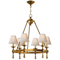 Visual Comfort SL5814HAB-NP E. F. Chapman Classic 6 Light 26 inch Hand-Rubbed Antique Brass Chandelier Ceiling Light