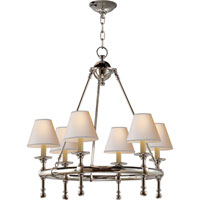 Visual Comfort E.F. Chapman Classic 6 Light Chandelier in Polished Nickel SL5814PN-NP