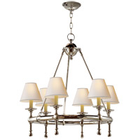 Visual Comfort SL5814PN-NP E. F. Chapman Classic 6 Light 26 inch Polished Nickel Chandelier Ceiling Light
