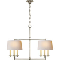Visual Comfort E.F. Chapman Classic 6 Light Linear Pendant in Antique Nickel SL5816AN-NP