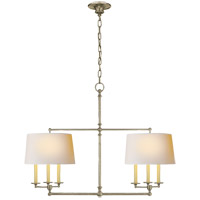 Visual Comfort SL5816AN-NP E. F. Chapman Classic 6 Light 42 inch Antique Nickel Linear Pendant Ceiling Light