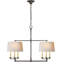 Visual Comfort E.F. Chapman Classic 6 Light Linear Pendant in Bronze with Wax SL5816BZ-NP