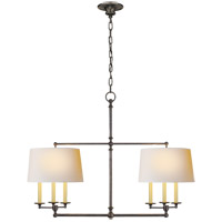 E. F. Chapman Classic 6 Light 42 inch Bronze Linear Pendant Ceiling Light