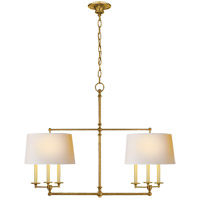 E. F. Chapman Classic 6 Light 42 inch Hand-Rubbed Antique Brass Linear Pendant Ceiling Light