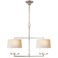 E. F. Chapman Classic 6 Light 42 inch Polished Nickel Linear Pendant Ceiling Light