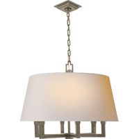 E.F. Chapman Square Tube 6 Light 24 inch Antique Nickel Hanging Shade Ceiling Light