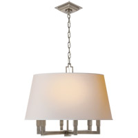 Visual Comfort SL5820AN-NP E. F. Chapman Square Tube 6 Light 24 inch Antique Nickel Hanging Shade Ceiling Light
