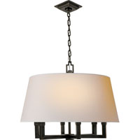 E. F. Chapman Square Tube 6 Light 24 inch Bronze Hanging Shade Ceiling Light